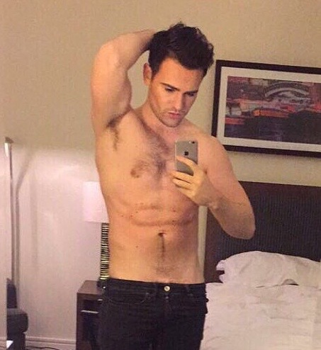 Blimey! Check out what Michael from Collabro is hiding ... Andrew Garfield Christian